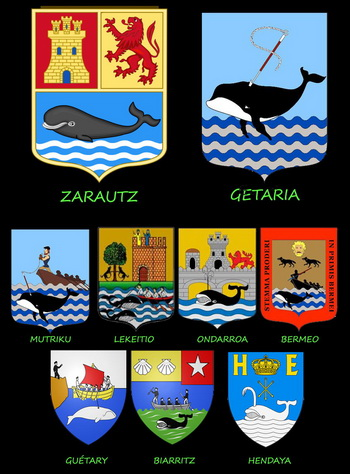 Basque Coat of Arms with whales
