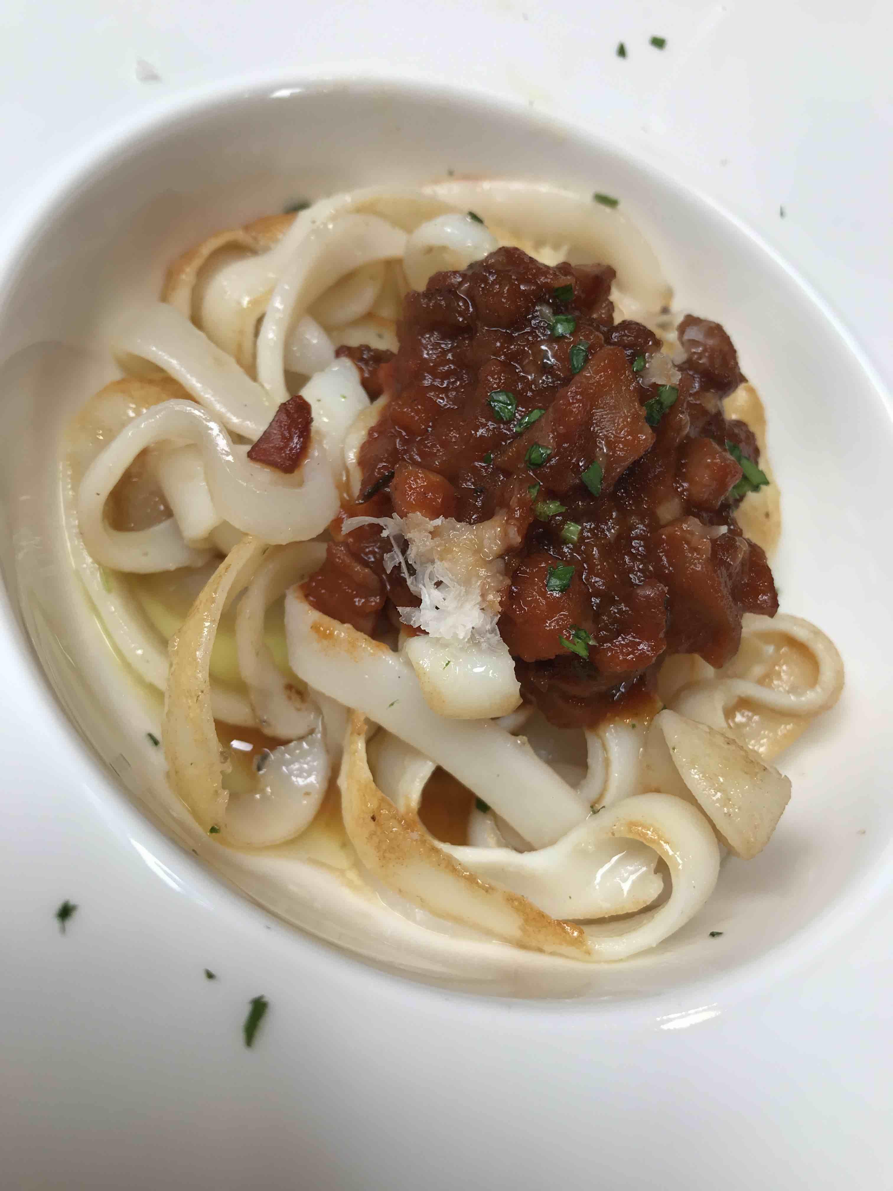 squidguetti espagueti made with squid kapadokia bar San Sebastian