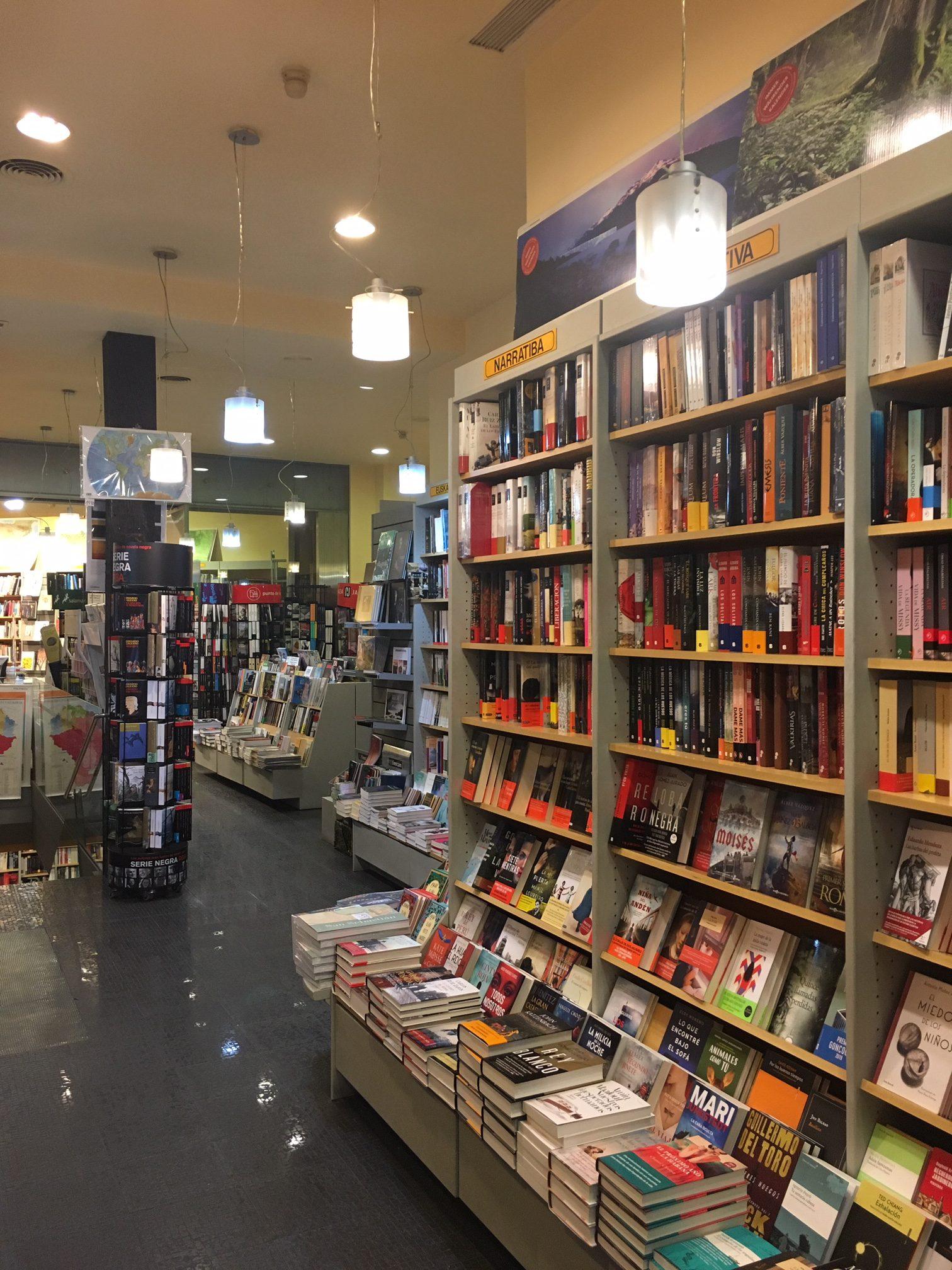 Hontza bookstore in San Sebastian