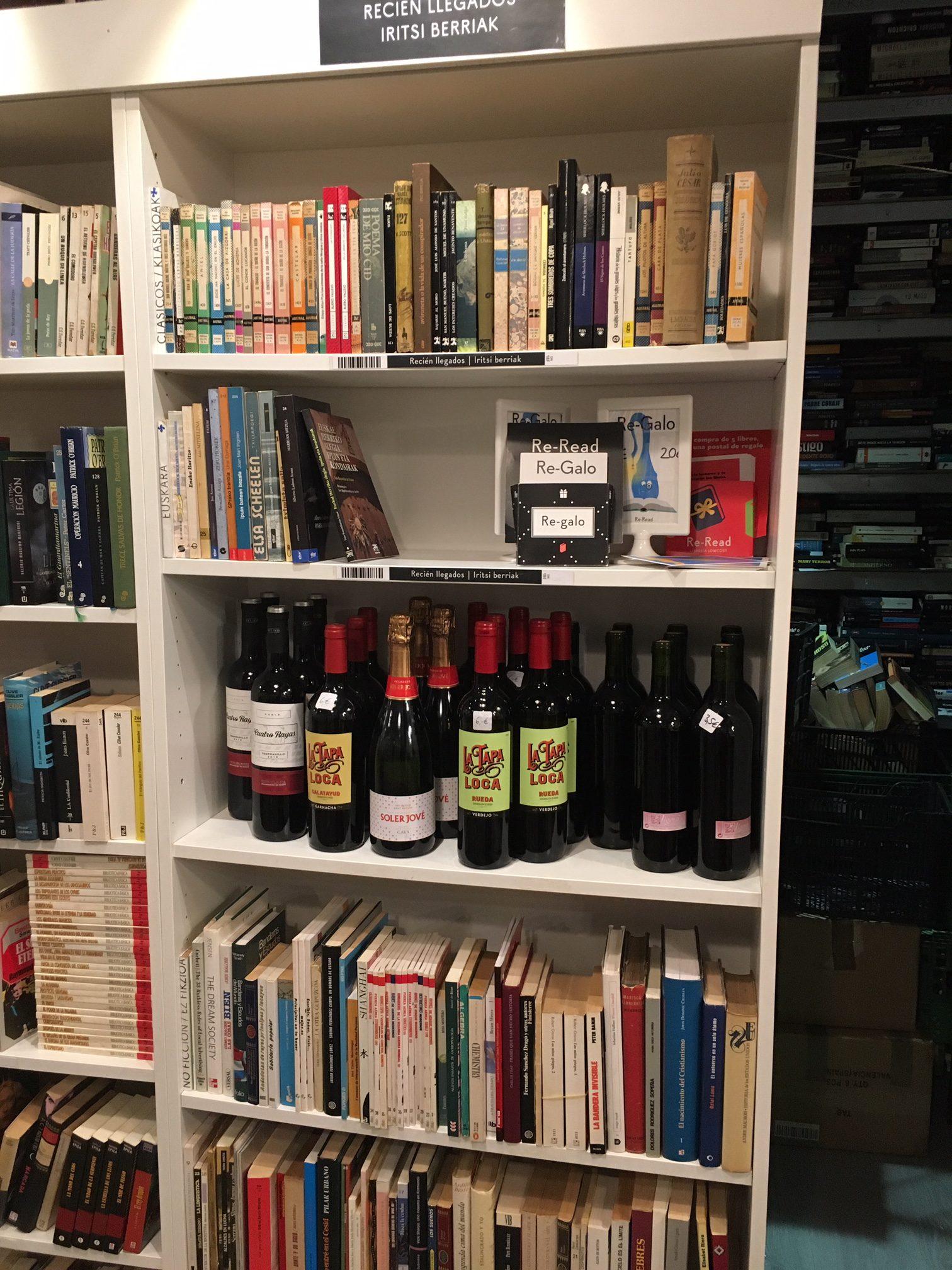 Re-Read bookstore in San Sebastian