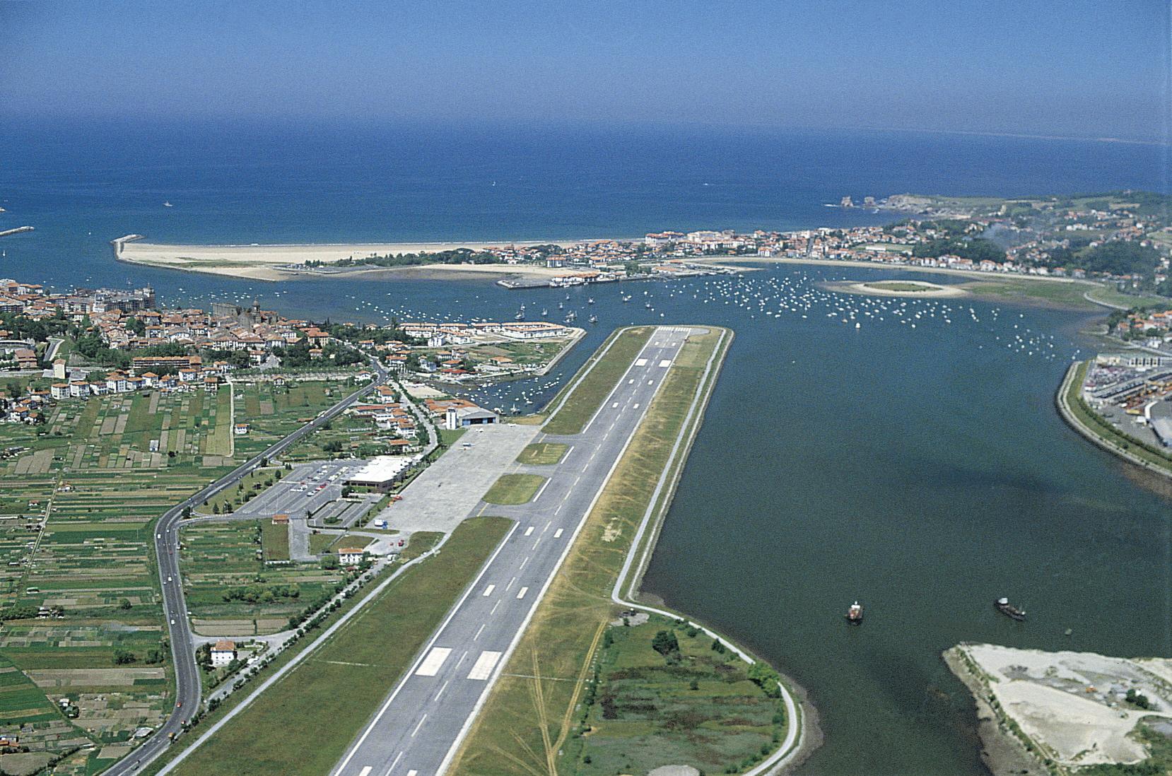 San Sebastian Airport from the air