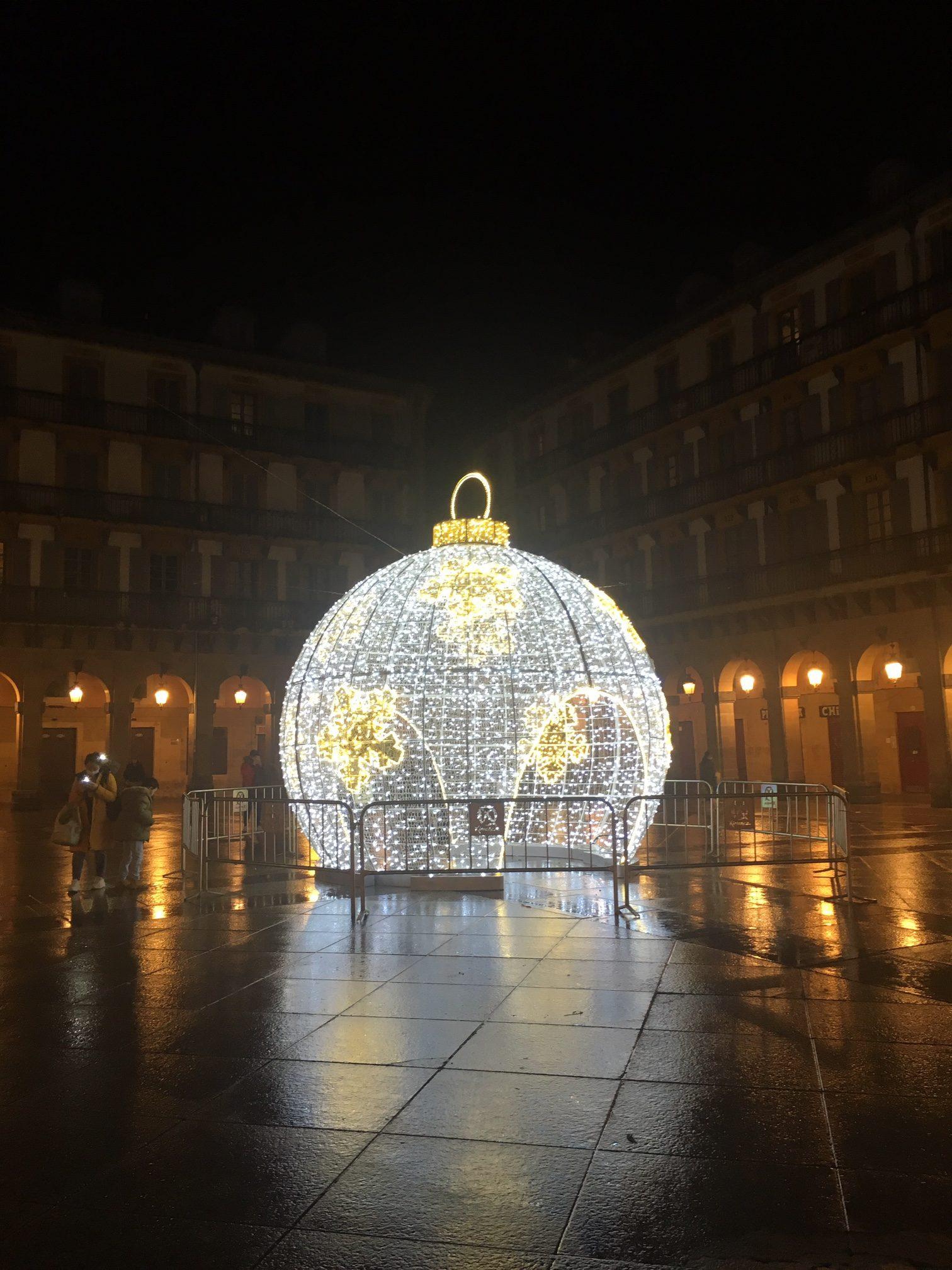 Christmas ball in San Sebastian