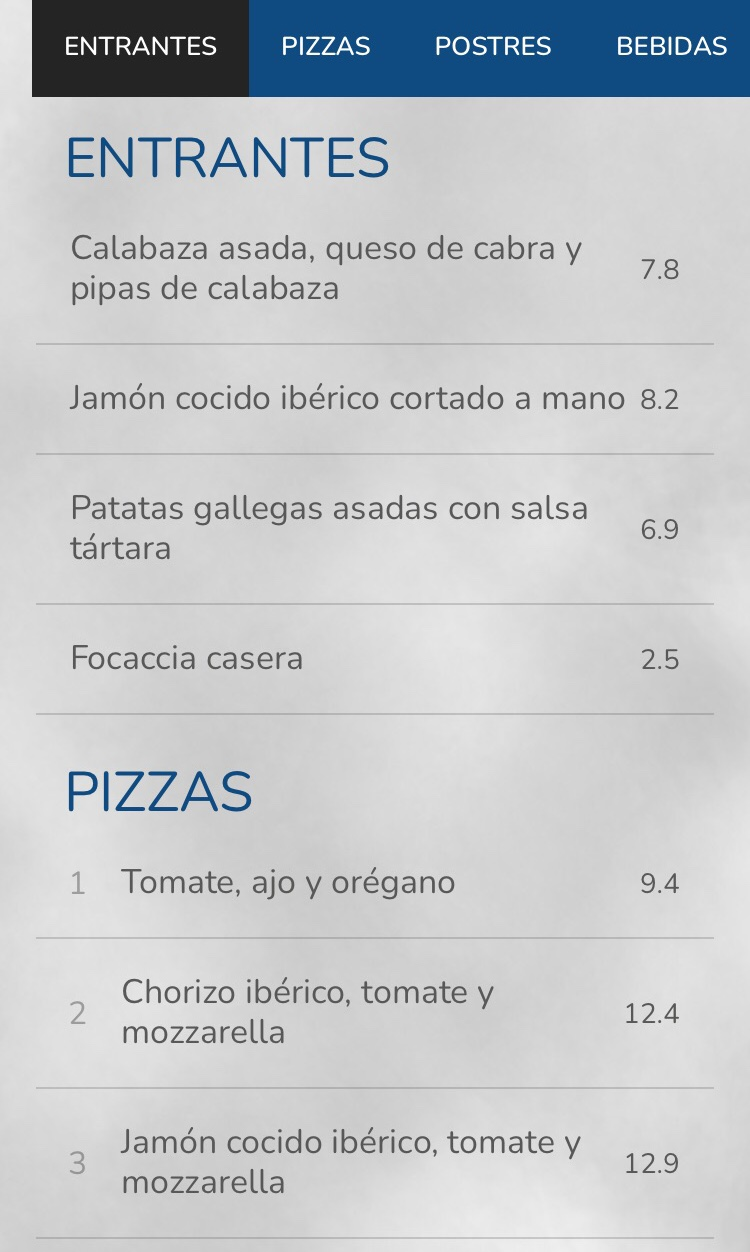 HUMO pizza in San Sebastian